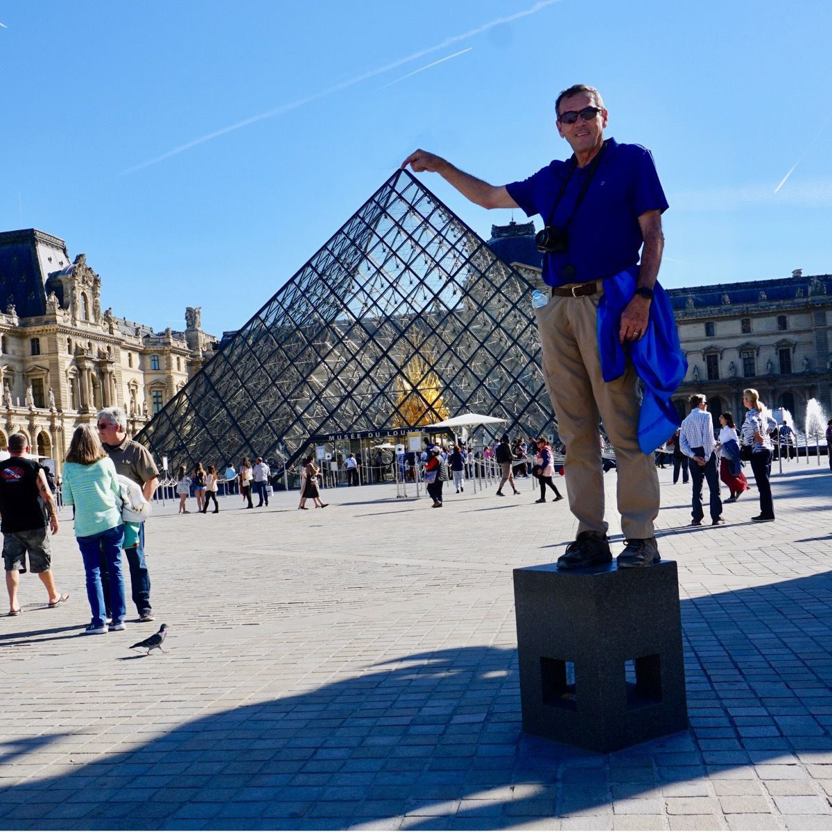 Tom at the Louvre
