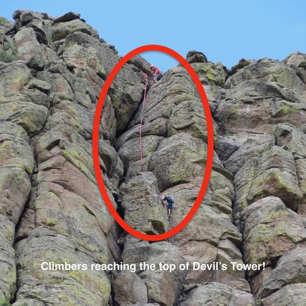 Climbers on Devil s Tower