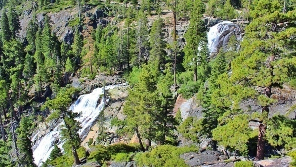 Aerial view of Eagle Falls